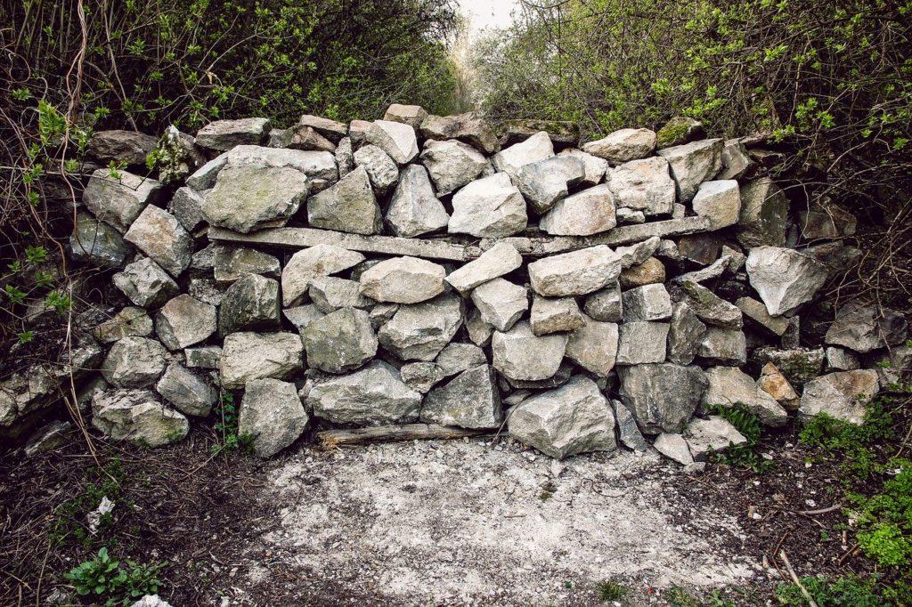 stones, barrier, dam